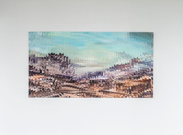 untitled (Sliced Series) - 2016 - acrylic on wood  212 x 120 cm