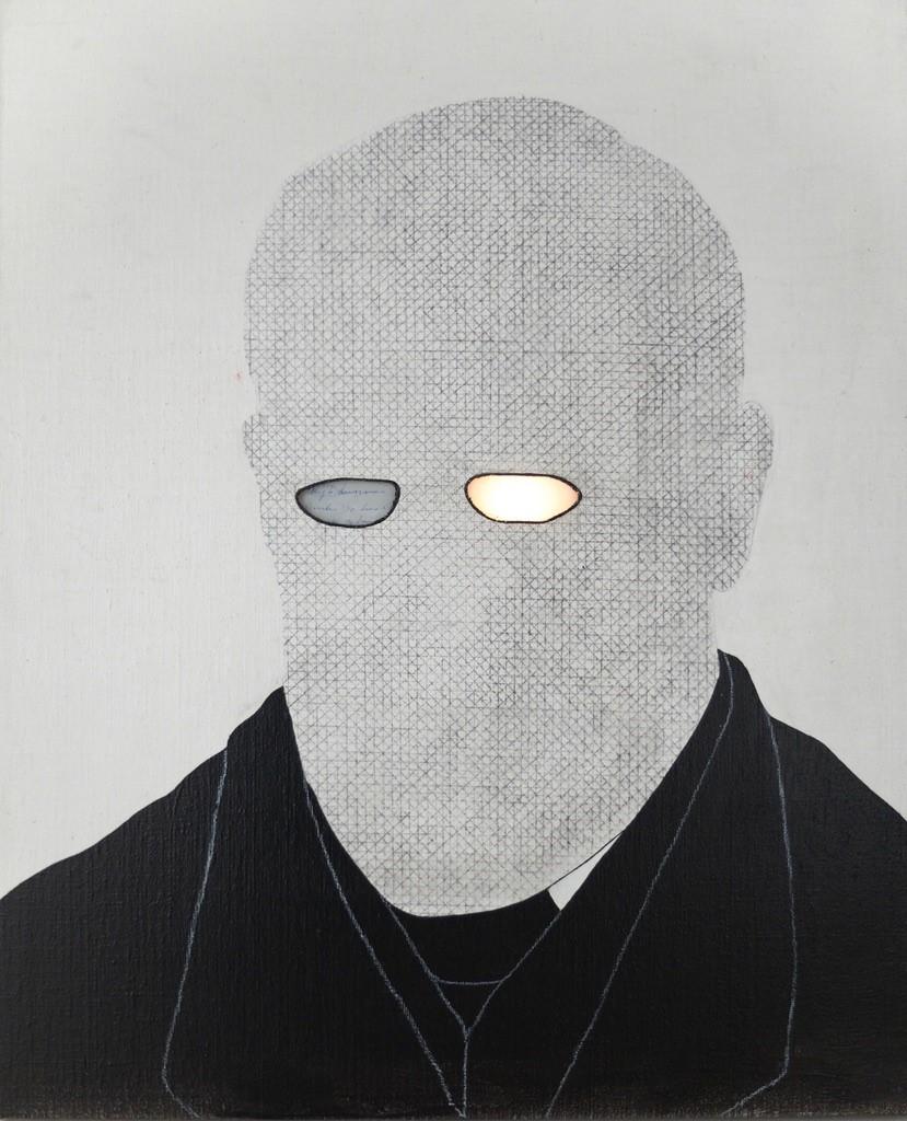 Die Traum (Sigmund Freud) Historicals - 2018  acryl/ inkt/pigment/copie van brief Trees/glas/led/spiegel op canvas 50 x 40 cm Interesse? Contacteer ons