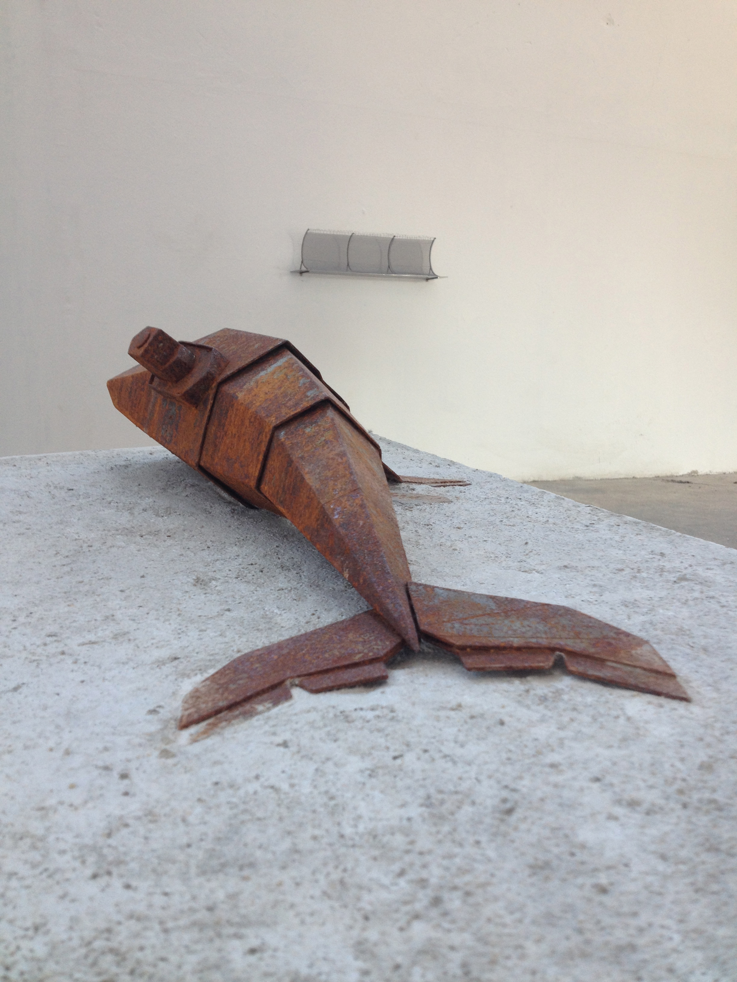 Killer Whale II - 2015  Ijzer, beton 20 x 40 x 70 cm