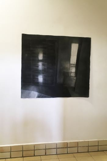 Reflection - 2018  Houtskool op doek 125 B x 111 H cm Interesse? Contacteer ons