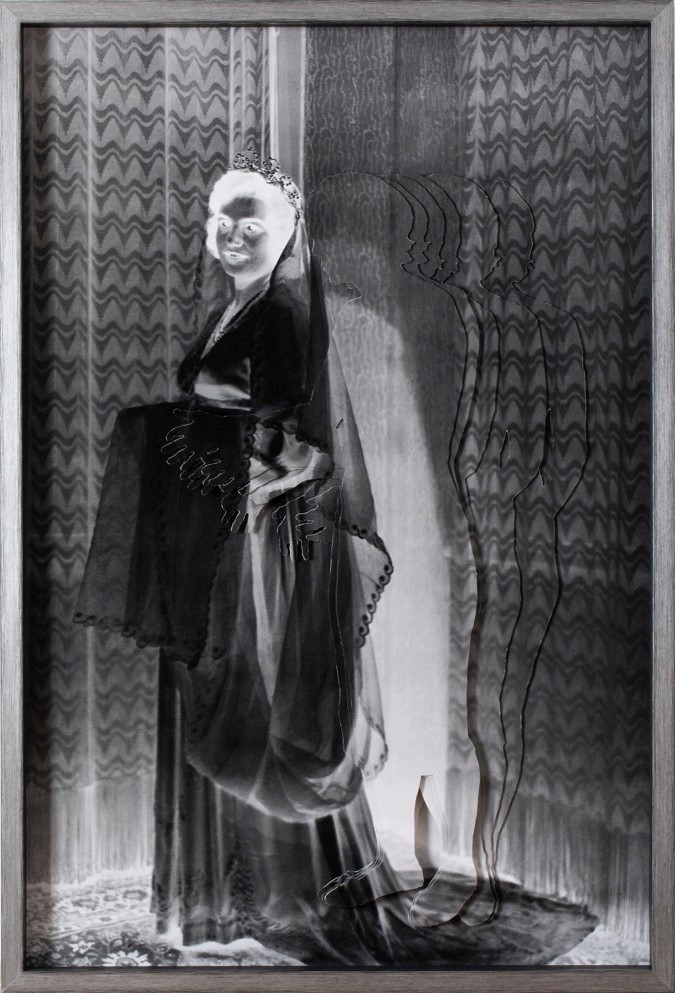 Time Tunnel - Bride II- 2019  Silver gelatin print, photo collage Ed 2 + 1 AP 60 x 87 cm  Framed Interesse? Contacteer ons