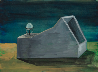 N.t. - 2010  Gouache on paper 18 x 26 cm