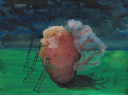 N.t. - 2012  Gouache on paper 23 x 31 cm