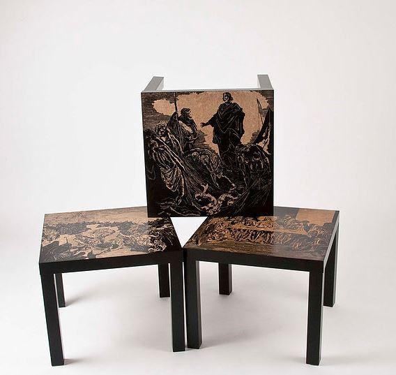 IKEA/LACK - 2012  Gegraveerde tafel 55 x 55 x 45 cm