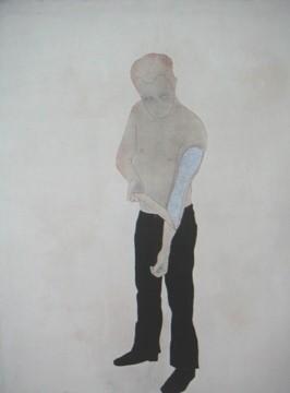 Mijn verleden - 2007  acryl/ inkt/pigment/potlood/copie van brief Trees op canvas 130 x100 cm Interesse? Contacteer ons
