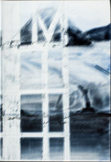Pyramiden in A Villa  V- 2014  emaille burnt on glass  34 x 23.5 cm